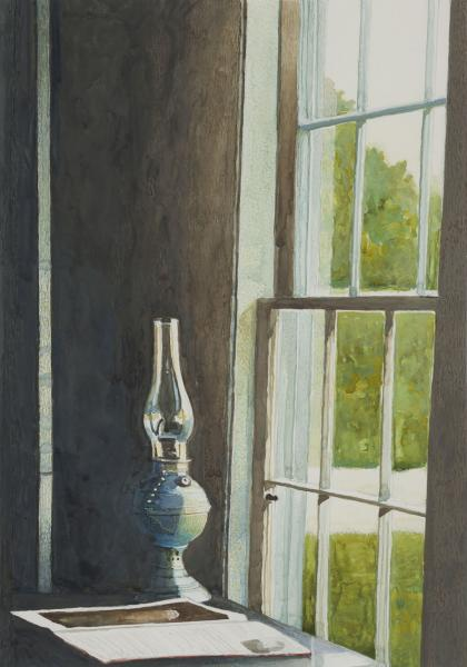 Reading Lamp, watercolor on paper, 13 1/4 x 9 1/4 inches, $4,500