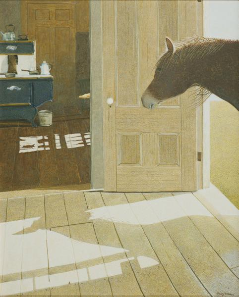 What's for Dinner?, egg tempera on panel, 20 x 16 inches, $22,000