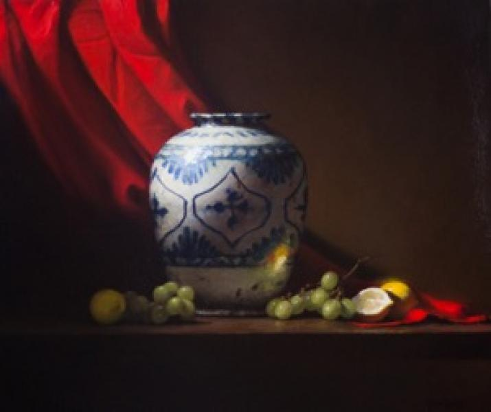 The Persian Pot, oil on canvas, 24 x 28 inches  SOLD