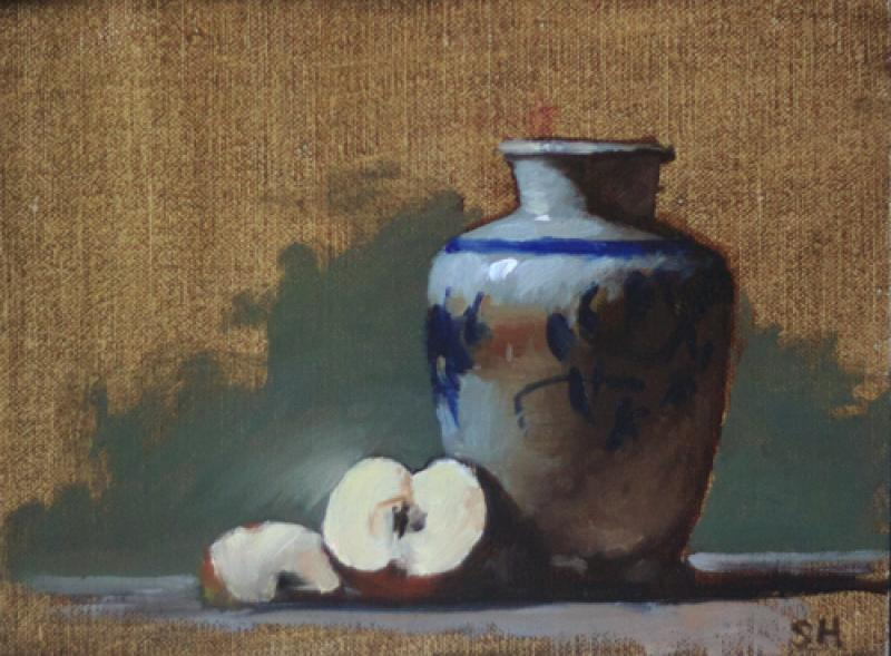 Study with a Pot, oil on panel, 6 x 8 inches  SOLD