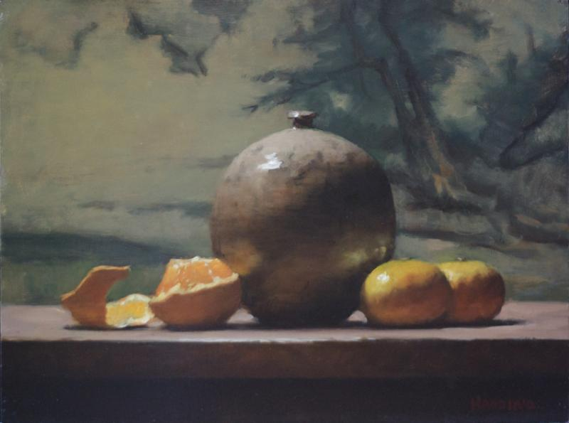 Orange Appeal, oil on panel, 9 x 12 inches  SOLD