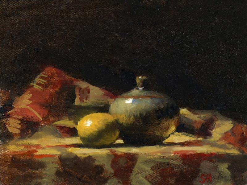 Gifts from the East, oil on panel, 6 x 8 inches  SOLD