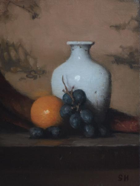 Still Life with Vase, oil on panel, 8 x 6 inches, $900