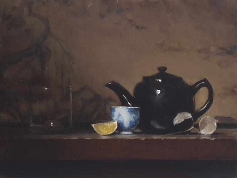 The Black Teapot, oil on panel, 9 x 12 inches, $1,200