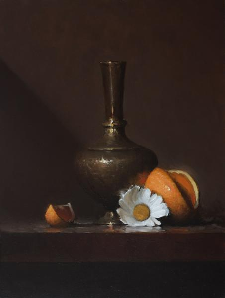 The Brass Vase, oil on panel, 12 x 9 inches, $1,200