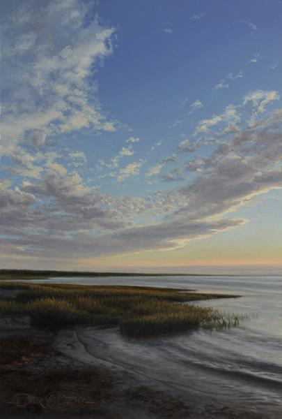 Bay Grasses at Sunset, oil on panel, 12 x 8 inches  SOLD