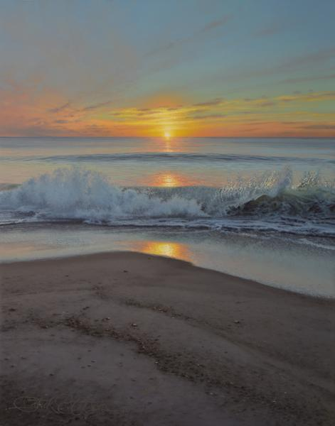 Breaking Waves, oil on panel, 14 x 11 inches  SOLD