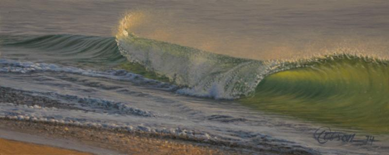 Catching Light, oil on panel, 3 x 7.5 inches  SOLD