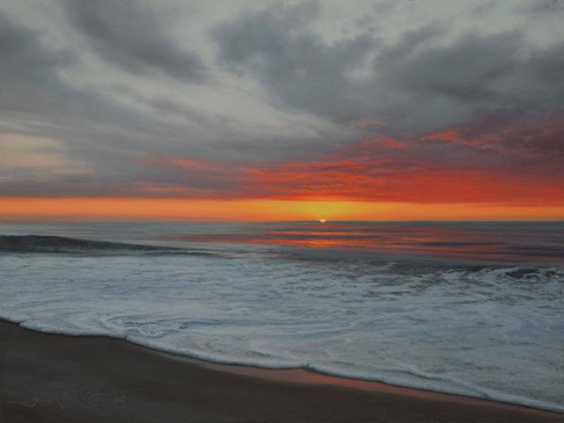 Daybreak, oil on panel, 9 x 12 inches  SOLD
