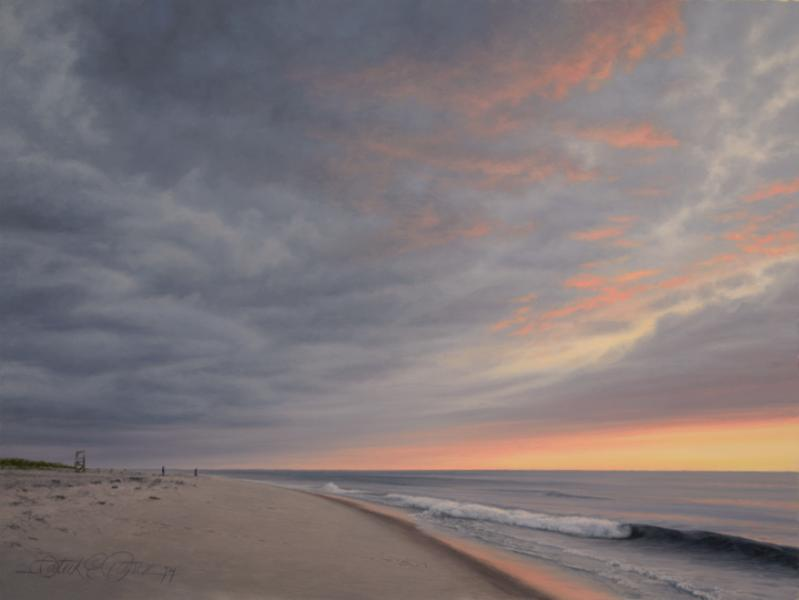 The Beach, oil on panel, 9 x 12 inches  SOLD