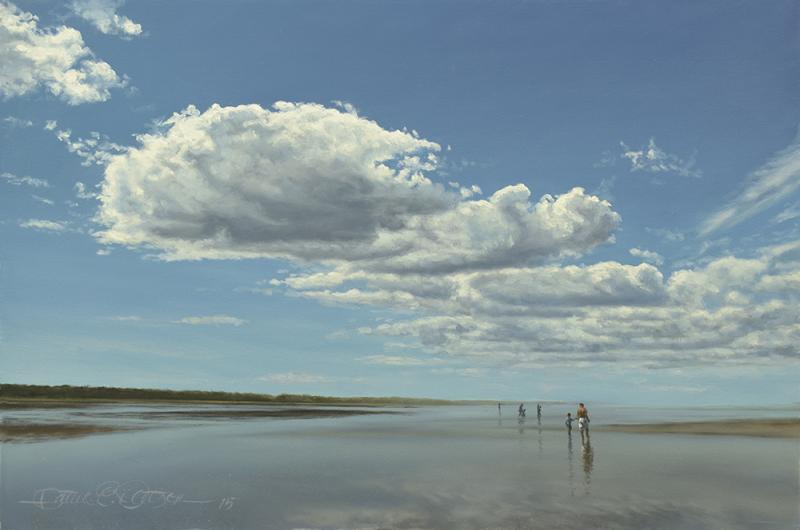 Low Tide and Big Sky (Study), oil on panel, 8 x 12 inches  SOLD