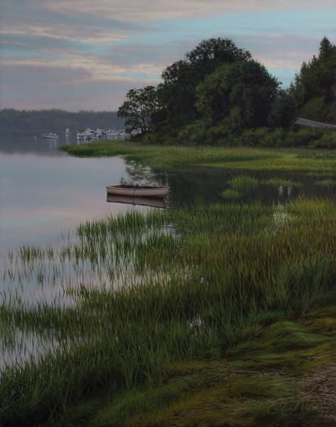 Morning Green, oil on panel, 14 x 11 inches  SOLD