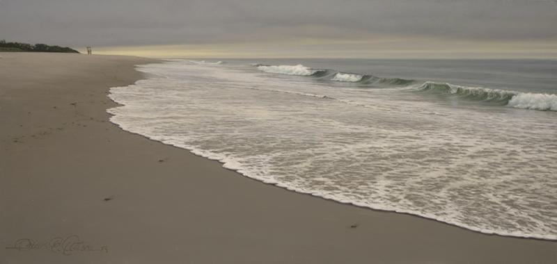 Morning Surf, oil on panel, 8 x 17 inches  SOLD