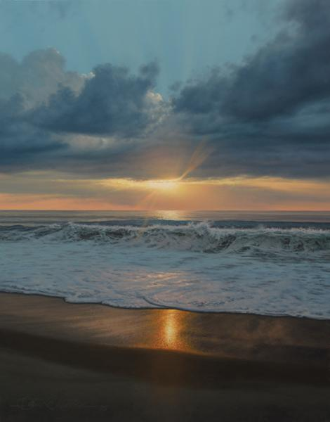 The Sea and The Sky, oil on panel, 14 x 11 inches  SOLD