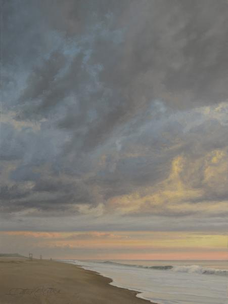 Warm Morning Along Nauset (Study), oil on panel, 12 x 8 inches  SOLD