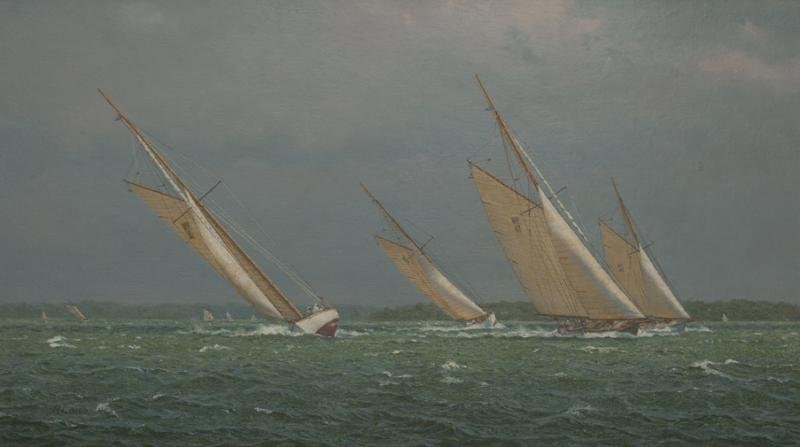 Approaching Squall, oil on linen, 16 x 28 inches   SOLD