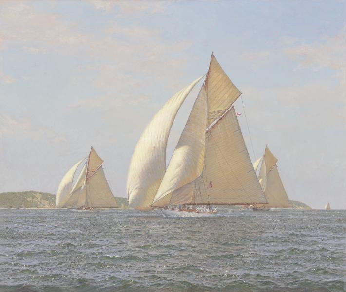 Winsome K-Class, Vineyard Sound, oil on canvas, 23 x 27 inches  SOLD