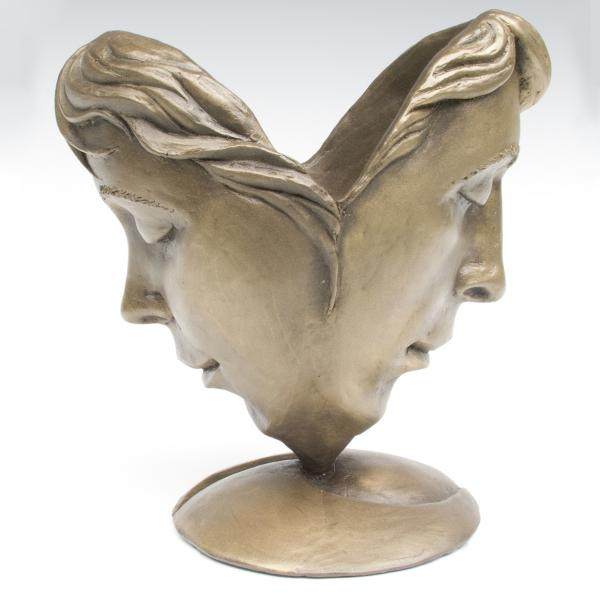 Love in Bloom, faux bronze resin , 7 x 7 x 5 inches, $300