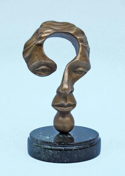 Questioning Mind (small), bronze, 7 x 4 x 4 inches, $1,200