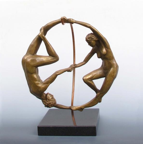 Yin Yang, bronze, 14 x 14 x 6 inches, $3,600
