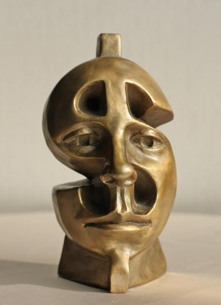 Money, bronze, 6.5 x 4 x 3.5 inches, $1,400