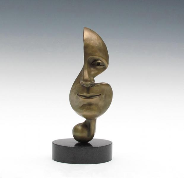 Music, bronze, 8 x 4 x 4 inches   SOLD
