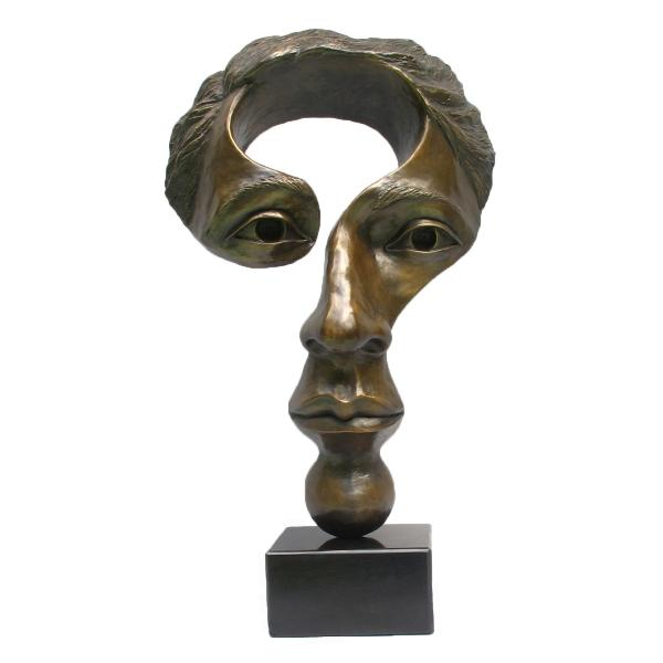 Questioning Mind (mid size), bronze, 18 x 12 x 6 inches, $4,000