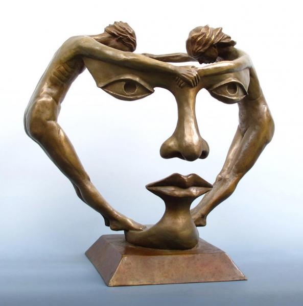We Two Together, bronze, 12 x 13 x 10 inches, $4,000