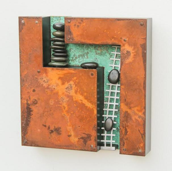 Moving On Up, Mixed Media, 10 x 10 inches  SOLD
