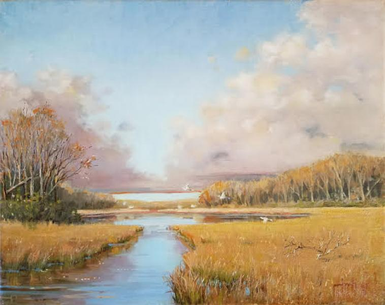 After the Frost, oil on linen, 16 x 20 inches, $2,200