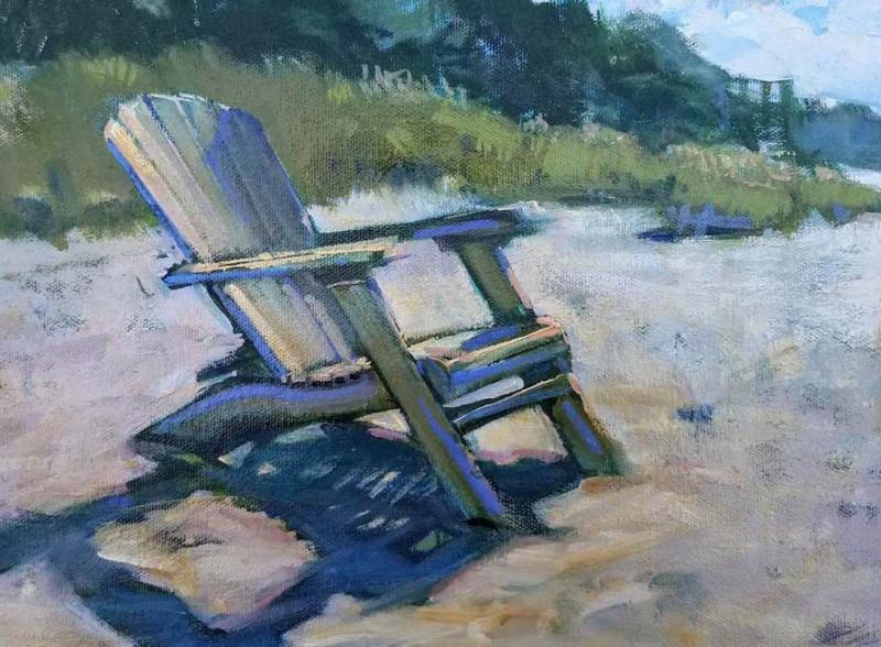 That Chair, oil on canvas panel, 9 x 12 inches, $1,800