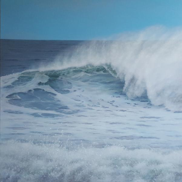Blustery , oil on linen, 36 x 36 inches  SOLD