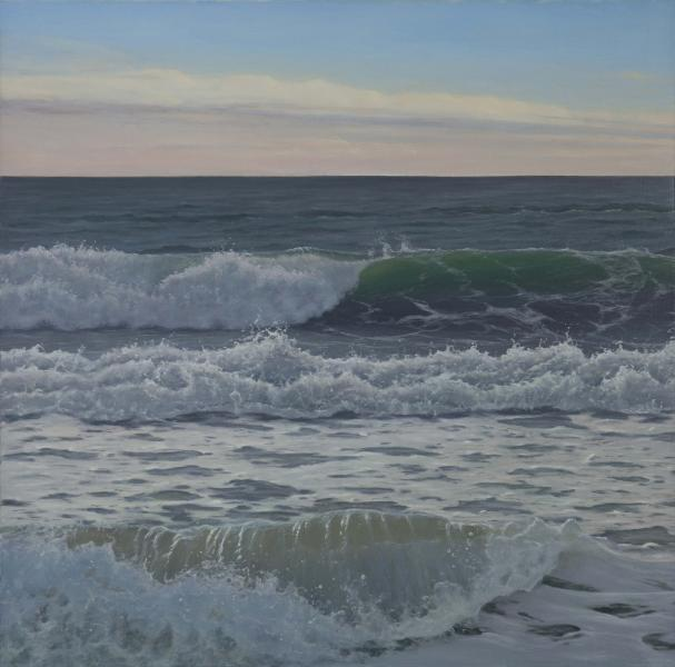 After the Rain, oil on linen, 36 x 36 inches  SOLD