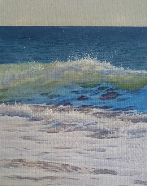 Sunny, oil on linen, 10 x 8 inches  SOLD