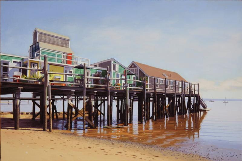 Captain Jack's Wharf, oil on linen, 16 x 24 inches, $3,400