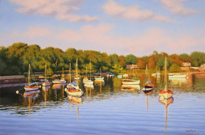 Harbor Evening, oil on canvas, 20 x 30 inches  SOLD