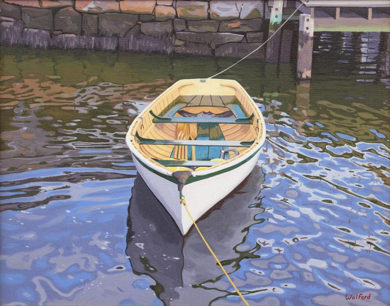 Lonely Skiff, oil on canvas, 16 x 20 inches  SOLD