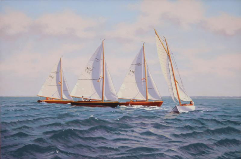 Racing Day, oil on linen, 16 x 24 inches, $3,400