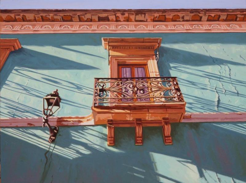 Spanish Balcony, oil on canvas, 12 x 16 inches, $2,100