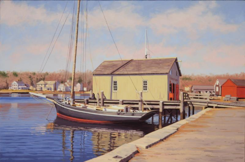 Thomas Oyster Co., oil on canvas, 16 x 24 inches  SOLD