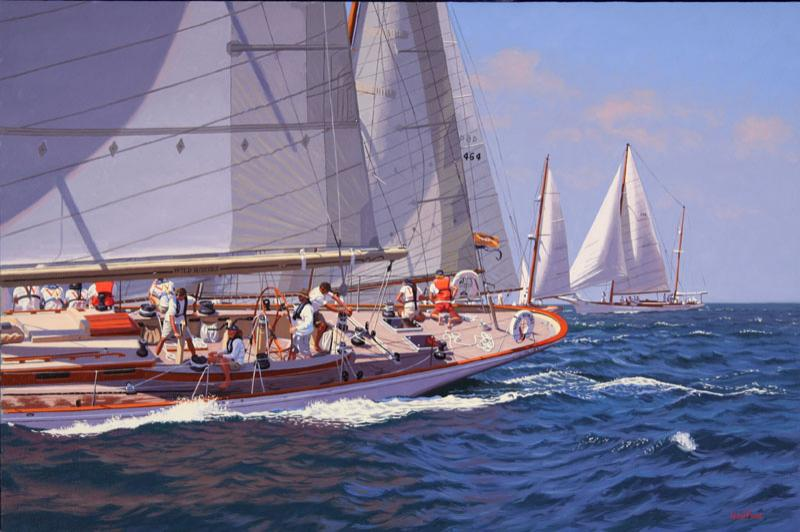 Wild Horses, Opera House Cup, oil on linen, 24 x 36 inches  SOLD