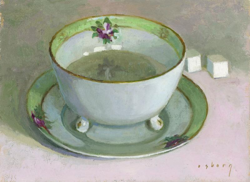 Nippon Teacup, oil on canvas panel, 6 x 8 inches, $900