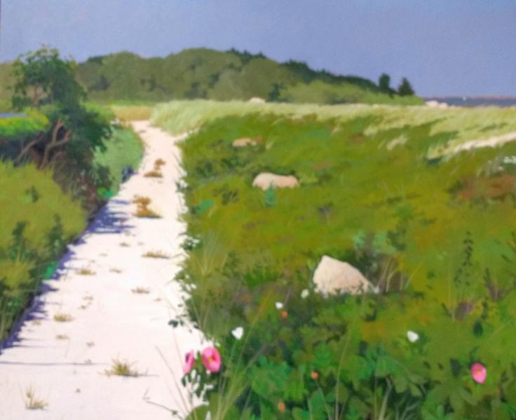 Path to Little Island, oil on canvas, 30 x 36 inches, $10,500