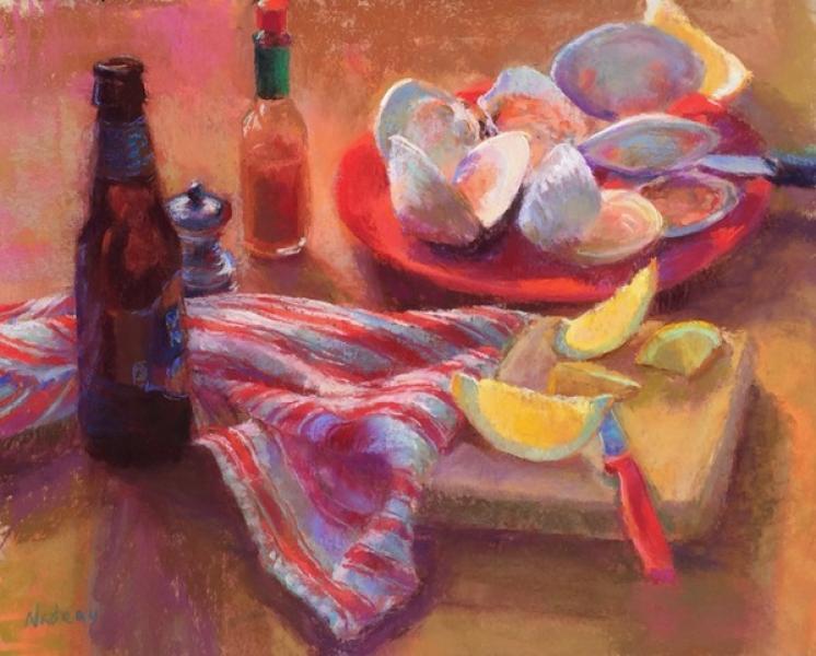Clammer's Reward , pastel, 16 x 20 inches, $2,200