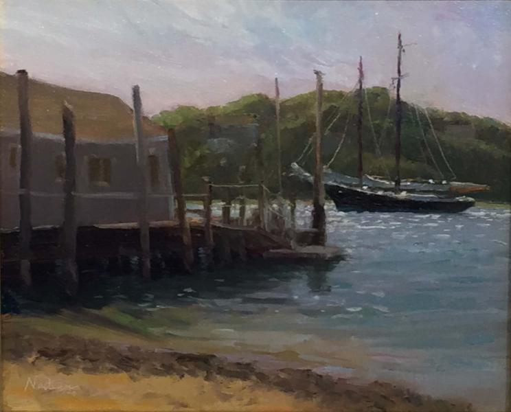 Double Masted Schooner, oil on mounted linen, 10 x 12 inches  SOLD