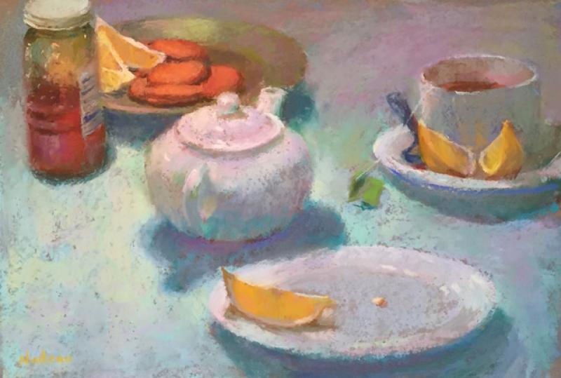 Gingersnaps, pastel on archival paper , 12 x 18 inches, $1,300