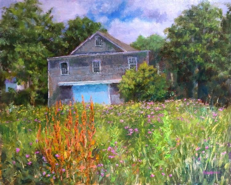 Old Mayo Barn, oil on mounted linen, 16 x 20 inches, $2,500