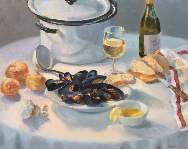Steamed , oil on canvas, 24 x 30 inches, $5,600
