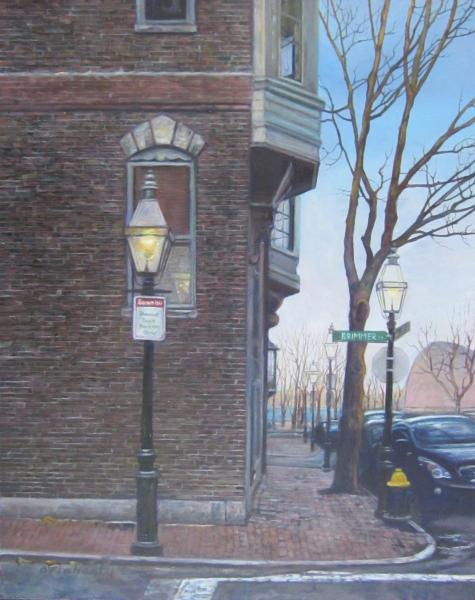 Crisp Morning in March- Brimmer Street to Hatch Shell, oil on panel , 8 x 10 inches   SOLD