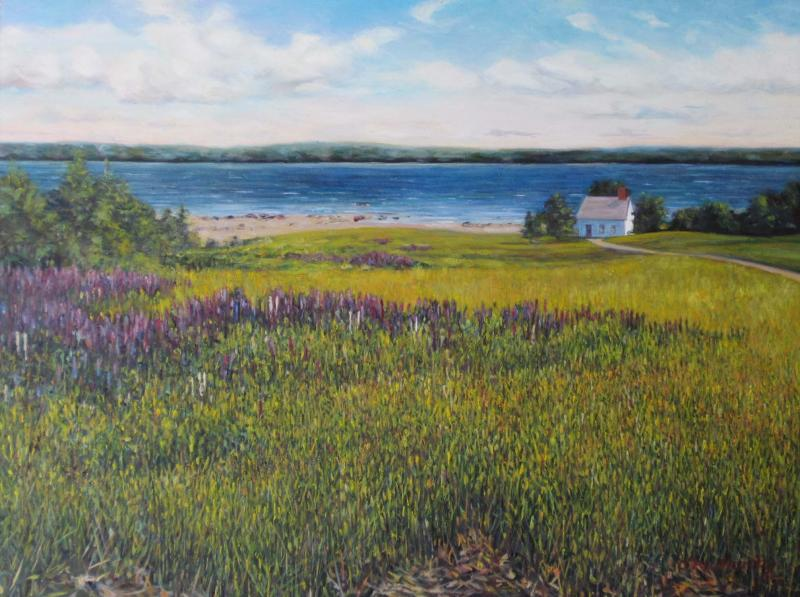 Purple Loosestrife, oil on panel, 9 x 12 inches  SOLD